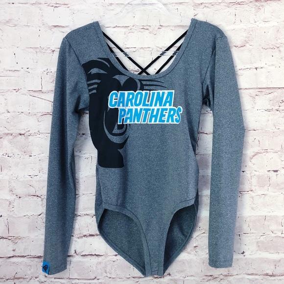 size 40 cd78a cad76 NWOT NFL TEAM | Carolina panthers women's leotard
